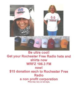 Rochester Free Radio hat and shirt combo