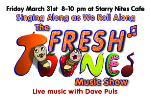 Friday March 31st, 8-10pm at Starry Nites Cafe. Dave Puls fundraiser for RFR