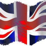 A stylized Union Jack Flag