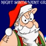Scowling Santa from Weird Al's The Night Santa Went Crazy